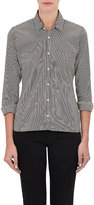 Alexander Olch Women's Stripe Poplin Shirt-BLACK, WHITE, NO COLOR