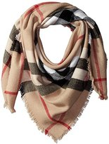 Pure Style Girlfriends Women's Oversize Plaid Scarf with Fringe Edge Detail Scarf Sha