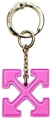 Off-White Off White enamel arrow cross earing pink
