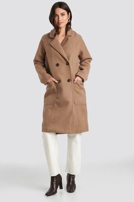 NA-KD Big Pocket Coat Beige