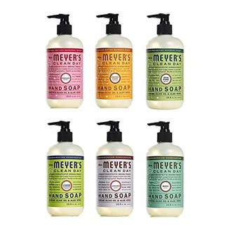 Mrs. Meyer's Liquid Hand Soap Holiday Scents Plus Everyday Scents 6 Scent Variety Pack
