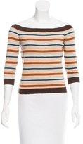 Celine Striped Rib Knit Top