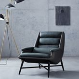 west elm Swoop Leather Chair