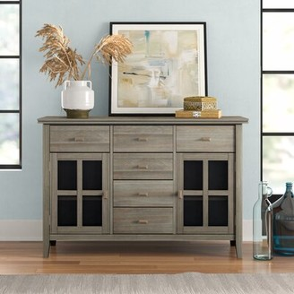 """Three PostsTM Gosport 54"""" Wide 6 Drawer Sideboard Three Posts Color: Distressed Gray"""