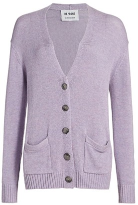 RE/DONE Oversized Wool-Blend Cardigan