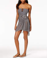 MICHAEL Michael Kors Striped Sarong Cover-Up