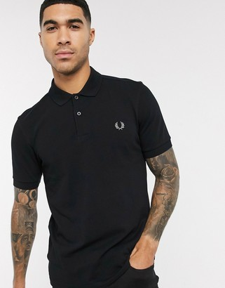 Fred Perry plain polo shirt in black