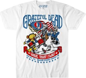 Liquid Blue Unisex-Adult's Grateful Dead 4th of July Wave That Flag 1987 SS T-Shirt