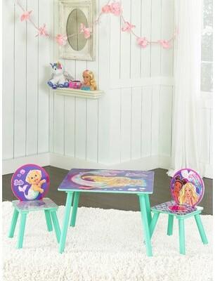 Barbie Mermaid Kids 3 Piece Table & Chair Set
