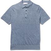 Brunello Cucinelli - Slim-fit Mélange Linen And Cotton-blend Polo Shirt