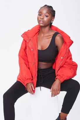 Forever 21 Hooded Puffer Jacket