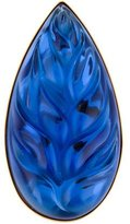 Lalique Crystal Leaf Brooch
