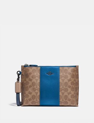 Coach Charlie Pouch In Colorblock Signature Canvas