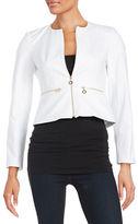 Calvin Klein Petite Zip Front Peplum Jacket