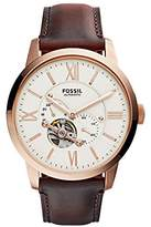 Fossil Men's ME3105 Analog Display Automatic Self Wind Brown Watch