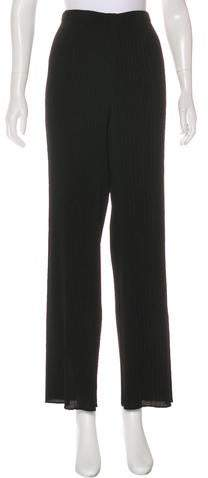 Issey Miyake Pleated Wide-Leg Pants