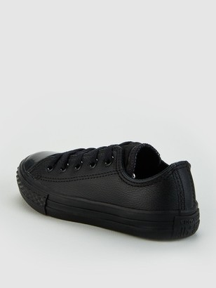 Converse Chuck Taylor All Star Leather Ox Children Shoes - Black