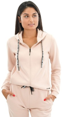 Steve Madden Zip-Up Sweatshirt And Pant Set Pink