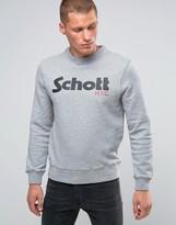 Schott Large Logo Crew Sweatshirt
