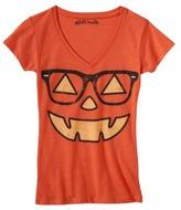 Juniors Halloween Pumpkin Graphic Tee - Orange