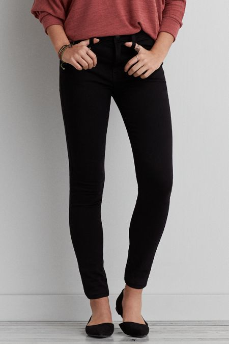 American Eagle Outfitters Black Hi-Rise Jegging Jeans