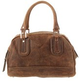 Longchamp Suede Shoulder Bag.