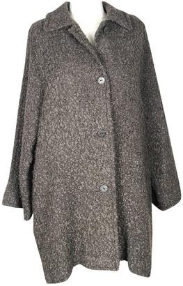 Genny Brown Wool Coat for Women