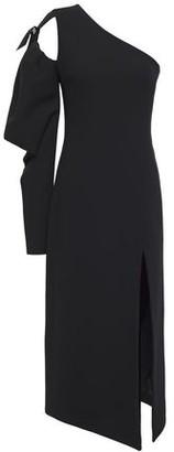 David Koma One-shoulder Cutout Crepe Midi Dress