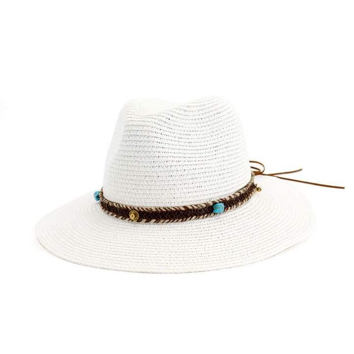 70234825fa258 White Straw Sun Hat - ShopStyle Canada