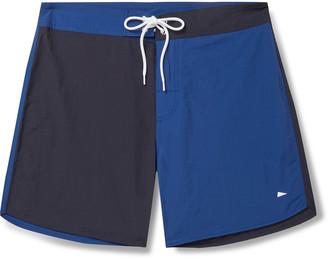 Pilgrim Surf + Supply Pilgrim Surf Supply - Dorry Slim-Fit Mid-Length Colour-Blocked Swim Shorts - Men - Blue