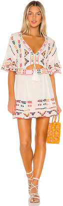 Tularosa Thea Embroidered Dress