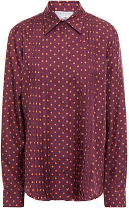 Gabriela Hearst Mirtha Pintucked Polka-dot Silk-twill Shirt