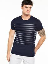 Very Short Sleeve Stripe T-Shirt