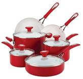 Silverstone 12-Piece Cookware Set - Red