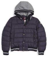 Moncler 'Auberie' Hooded Down Varsity Jacket (Toddler Boys, Little Boys & Big Boys)