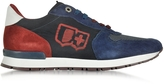 D'Acquasparta D'Acquasparta Botticelli Blue Suede and Fabric Men's Sneaker