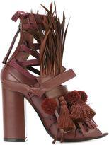 No.21 ankle strap embellished sandals