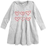Urban Smalls Light Heather Gray Hearts A-Line Dress - Toddler & Girls