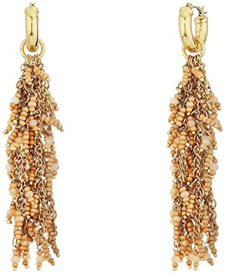 Sole Society SOLE / SOCIETY Waterfall Earrings (12K Soft Polish Gold/Himalayan Salt) Earring