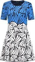 Markus Lupfer Kayla pleated jacquard-knit mini dress