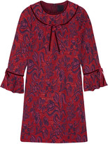 Anna Sui Floral-jacquard mini dress