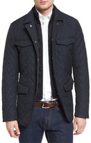 Etro Quilted Two-Layer Field Jacket, Navy