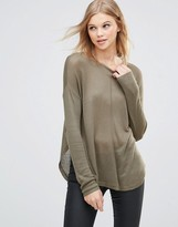 B.young Knit Pullover With Raw Edges