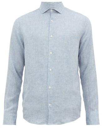 Frescobol Carioca Button-down Linen Shirt - Mens - Blue