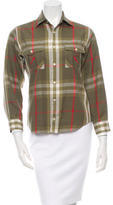 Burberry Nova Check Button-Up Top