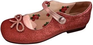 Gucci Pink Glitter Ballet flats