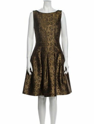 Oscar de la Renta 2014 Knee-Length Dress Gold