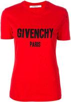 Givenchy distressed logo print T-shirt