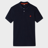 Paul Smith Men's Navy Embroidered PS Logo Organic-Cotton Polo Shirt