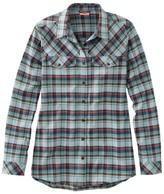 L.L. Bean L.L.Bean Women's Cabin Stretch Flannel Shirt, Plaid